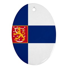State Flag of Finland  Oval Ornament (Two Sides)