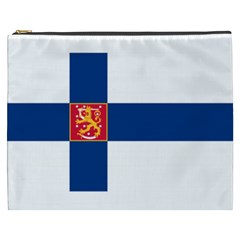 State Flag of Finland  Cosmetic Bag (XXXL)