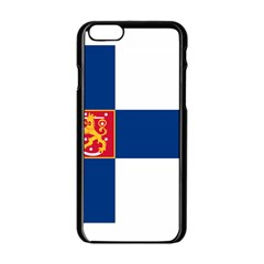 State Flag Of Finland  Apple Iphone 6/6s Black Enamel Case