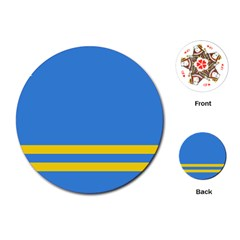 Flag of Aruba Playing Cards (Round)