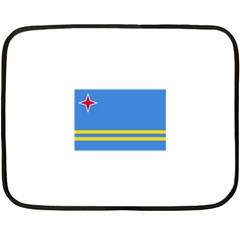 Flag Of Aruba Double Sided Fleece Blanket (mini)