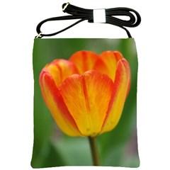 Orange Tulip Shoulder Sling Bags