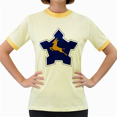 Roundel of the South African Air Force, 1958-1981 Women s Fitted Ringer T-Shirts