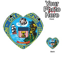 Seal of Chicago Playing Cards 54 (Heart)