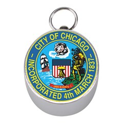 Seal of Chicago Mini Silver Compasses