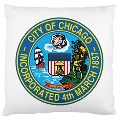 Seal of Chicago Large Flano Cushion Case (One Side)