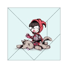Bad Bitch Red Acrylic Tangram Puzzle (6  x 6 )