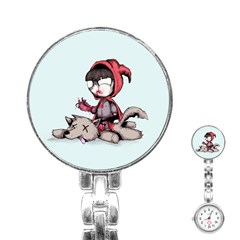 Bad Bitch Red Stainless Steel Nurses Watch
