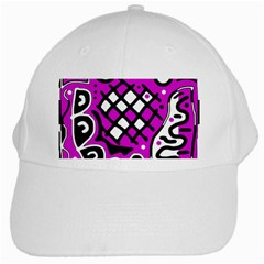 Magenta high art abstraction White Cap