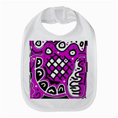 Magenta high art abstraction Bib