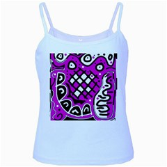 Magenta high art abstraction Baby Blue Spaghetti Tank