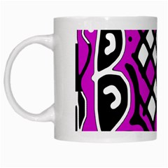 Magenta high art abstraction White Mugs