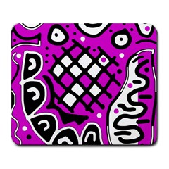 Magenta high art abstraction Large Mousepads