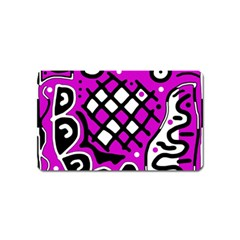 Magenta high art abstraction Magnet (Name Card)