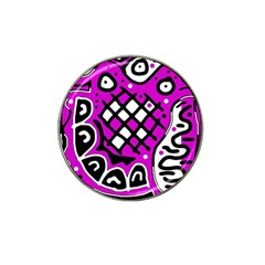 Magenta high art abstraction Hat Clip Ball Marker (4 pack)