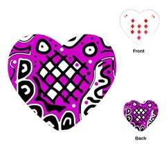 Magenta high art abstraction Playing Cards (Heart)