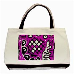 Magenta high art abstraction Basic Tote Bag