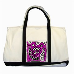 Magenta high art abstraction Two Tone Tote Bag
