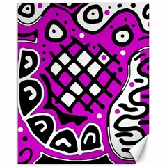 Magenta high art abstraction Canvas 16  x 20