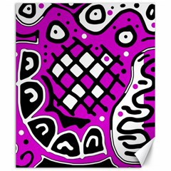 Magenta high art abstraction Canvas 20  x 24