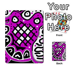 Magenta high art abstraction Multi-purpose Cards (Rectangle)