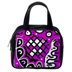 Magenta high art abstraction Classic Handbags (One Side)
