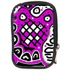 Magenta high art abstraction Compact Camera Cases