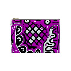 Magenta high art abstraction Cosmetic Bag (Medium)