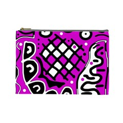 Magenta high art abstraction Cosmetic Bag (Large)