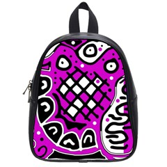 Magenta high art abstraction School Bags (Small)