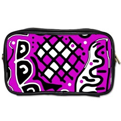 Magenta high art abstraction Toiletries Bags 2-Side