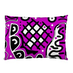 Magenta high art abstraction Pillow Case (Two Sides)