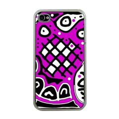 Magenta high art abstraction Apple iPhone 4 Case (Clear)