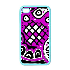Magenta high art abstraction Apple iPhone 4 Case (Color)