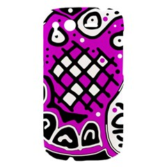Magenta high art abstraction HTC Desire S Hardshell Case