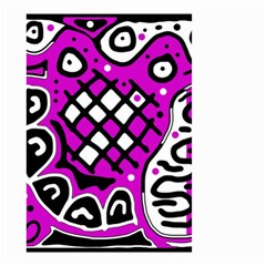Magenta high art abstraction Small Garden Flag (Two Sides)