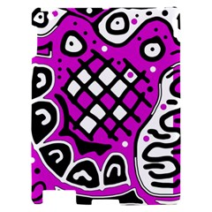 Magenta high art abstraction Apple iPad 2 Hardshell Case