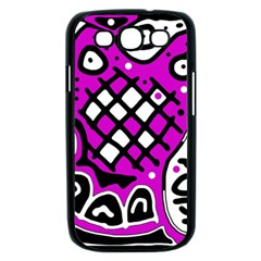 Magenta high art abstraction Samsung Galaxy S III Case (Black)