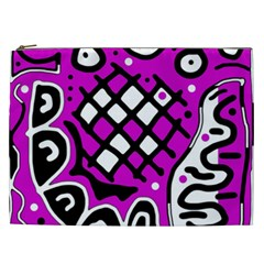 Magenta high art abstraction Cosmetic Bag (XXL)