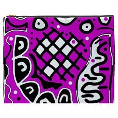 Magenta high art abstraction Cosmetic Bag (XXXL)