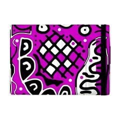 Magenta high art abstraction Apple iPad Mini Flip Case