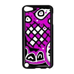 Magenta high art abstraction Apple iPod Touch 5 Case (Black)