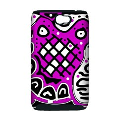Magenta high art abstraction Samsung Galaxy Note 2 Hardshell Case (PC+Silicone)