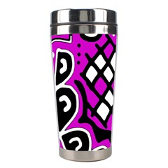 Magenta high art abstraction Stainless Steel Travel Tumblers