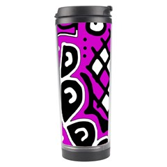 Magenta high art abstraction Travel Tumbler