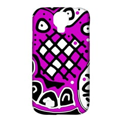 Magenta high art abstraction Samsung Galaxy S4 Classic Hardshell Case (PC+Silicone)