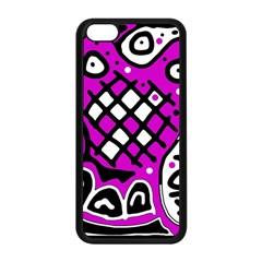 Magenta high art abstraction Apple iPhone 5C Seamless Case (Black)