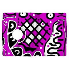 Magenta high art abstraction Kindle Fire HDX Flip 360 Case