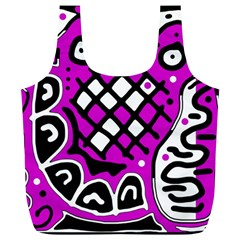 Magenta high art abstraction Full Print Recycle Bags (L)