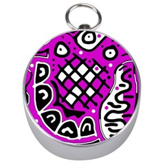Magenta high art abstraction Silver Compasses